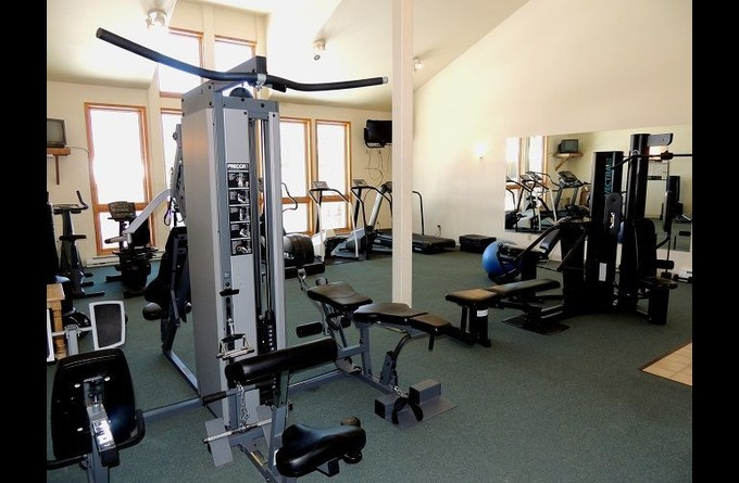 Exercise Room with an amazing view of the mountains.